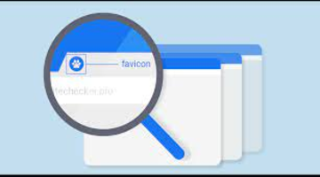Motore di ricerca con scritto favicon