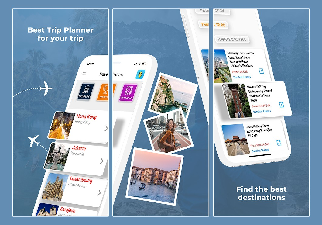 app to plan your trip based on your interests
